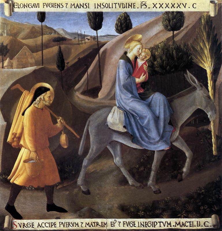 Flight into Egypt - Fra Angelico