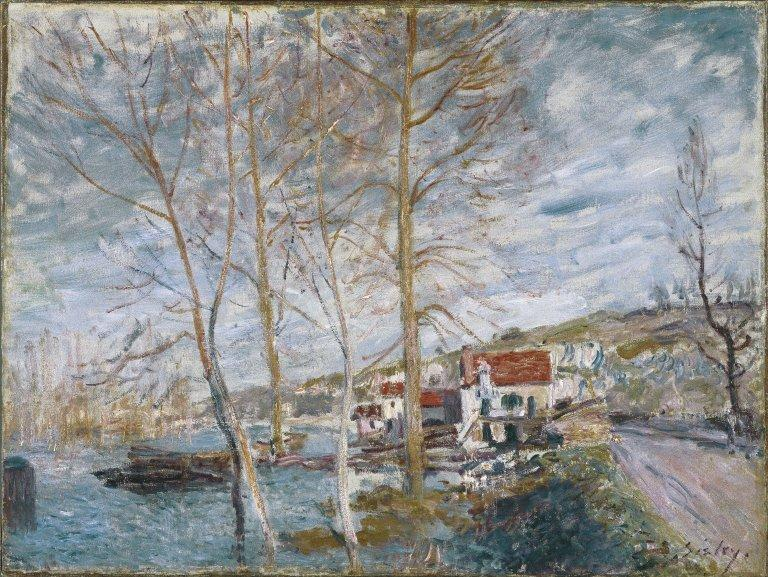 Flood at Moret - Alfred Sisley