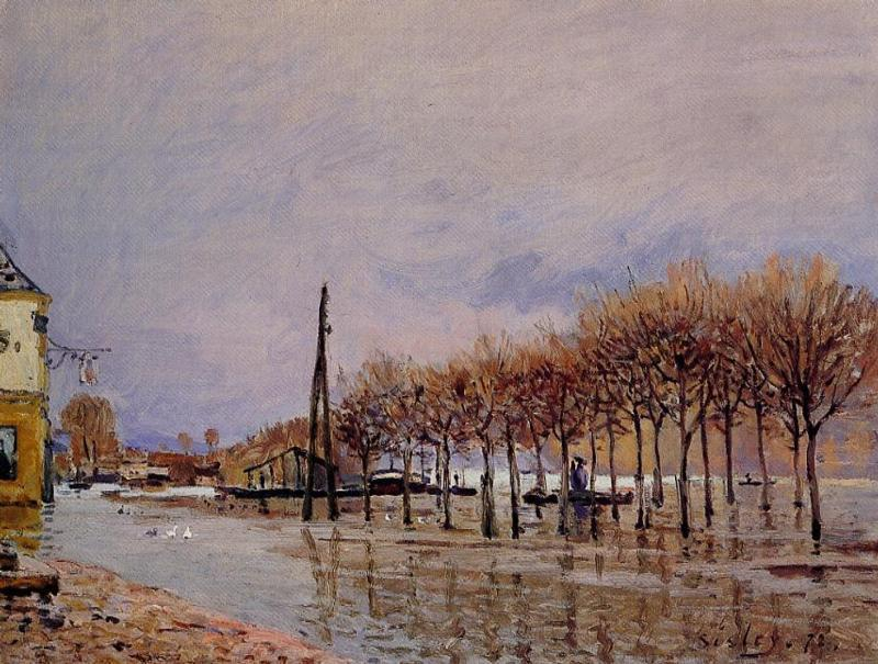 Flood at Port Marly - Alfred Sisley