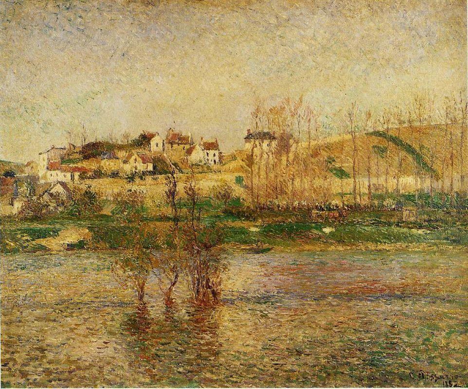Flood in Pontoise - Camille Pissarro