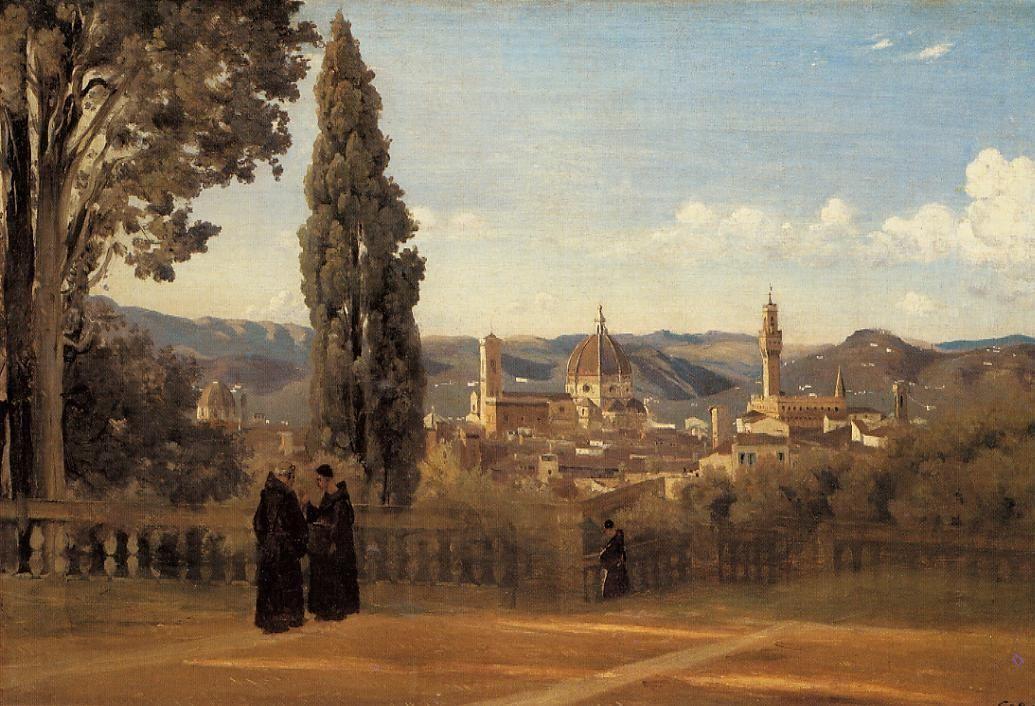 Florence, The Boboli Gardens - Camille Corot