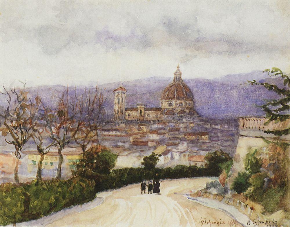 Florence. Walk. - Vasily Surikov