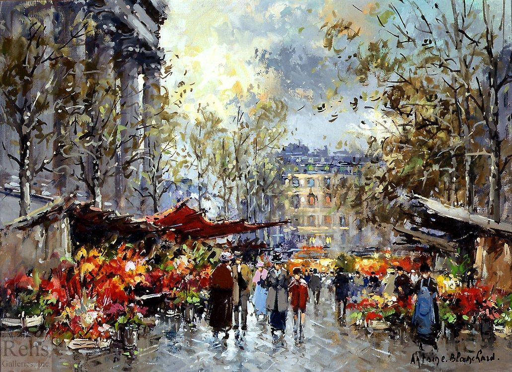 Flower market Madeleine - Antoine Blanchard