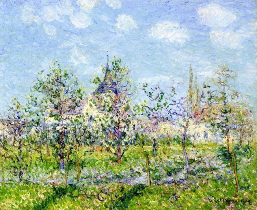 Flowering Orchard, Spring - Gustave Loiseau
