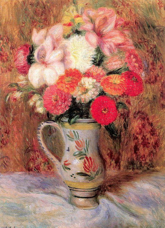 Flowers in a Quimper Pitcher - William James Glackens