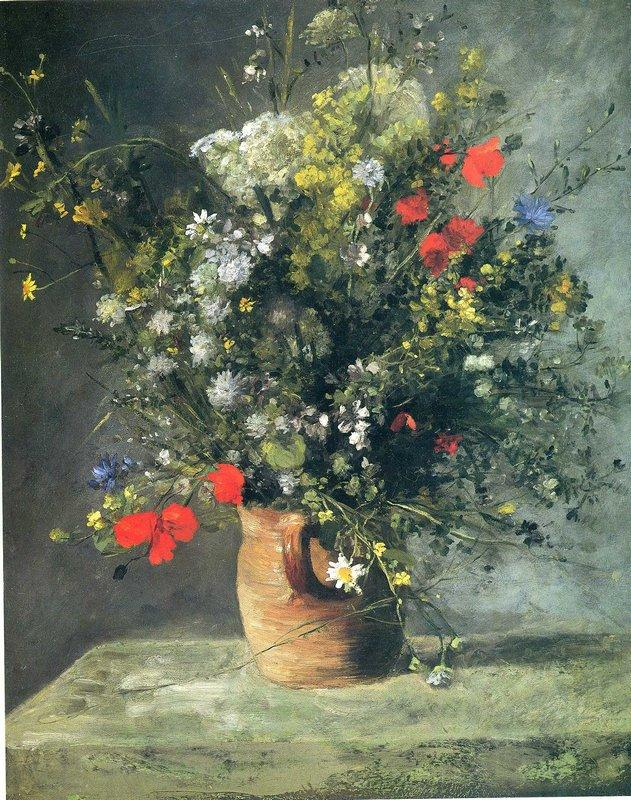 Flowers in a Vase - Adolphe Joseph Thomas Monticelli