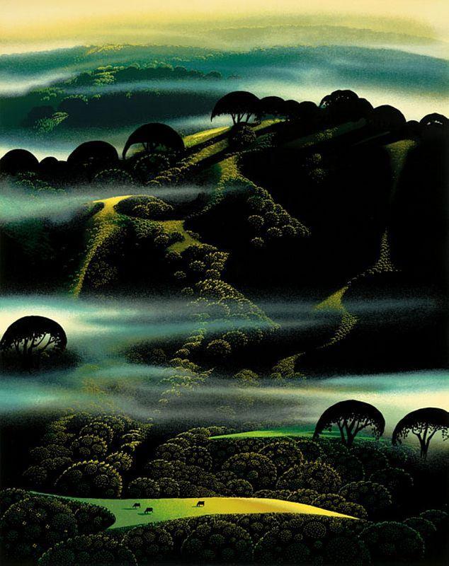 Fog Draped hills - Eyvind Earle