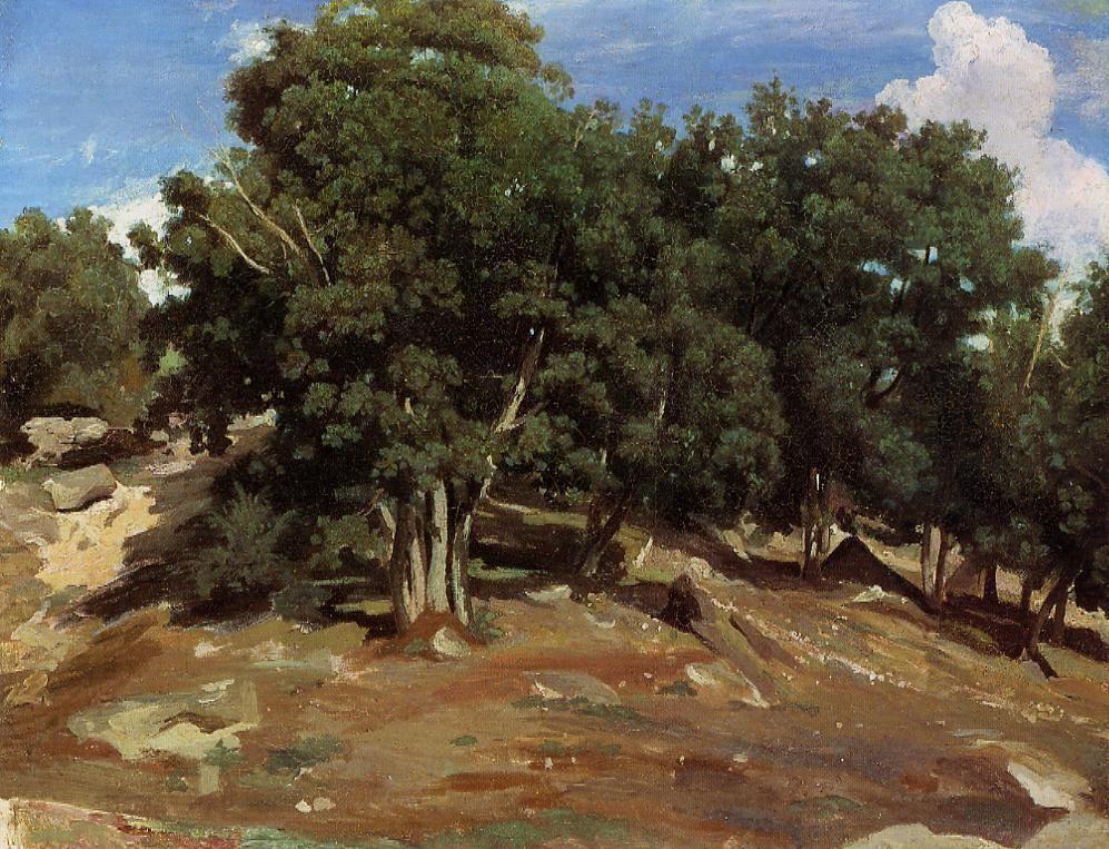 Fontainebleau Black Oaks of Bas Breau - Camille Corot
