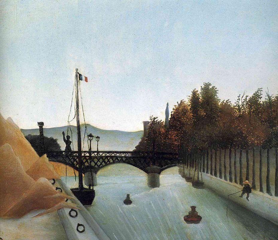 Footbridge at Passy - Henri Rousseau