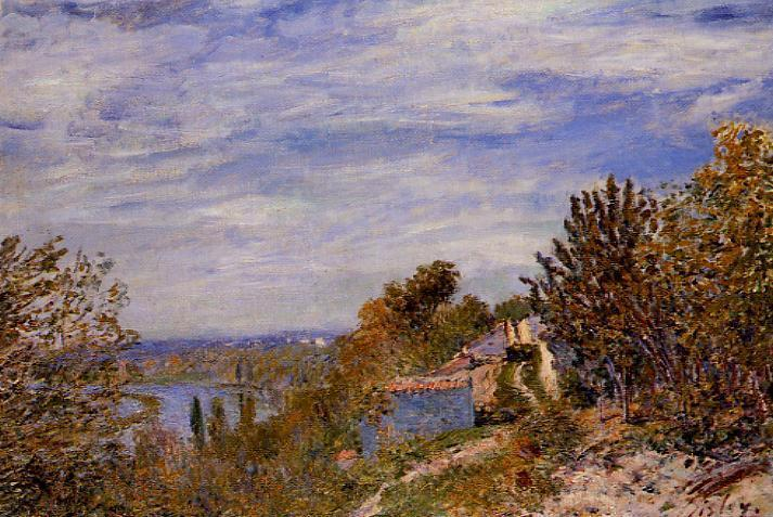 Footpath in the Gardens at By - Alfred Sisley