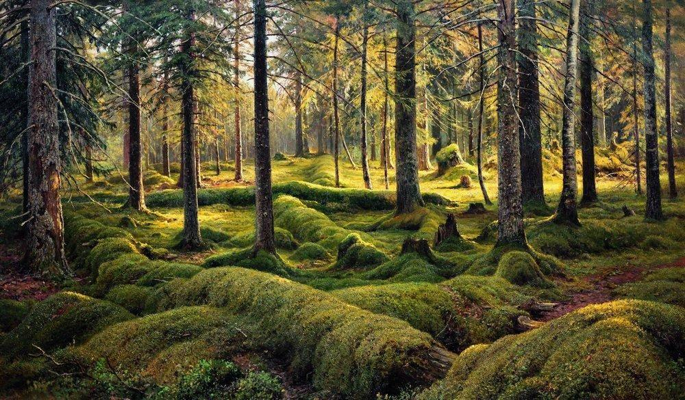 Forest cemetery - Ivan Shishkin
