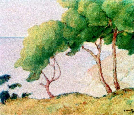 Forest Edge (Balcic) - Nicolae Tonitza