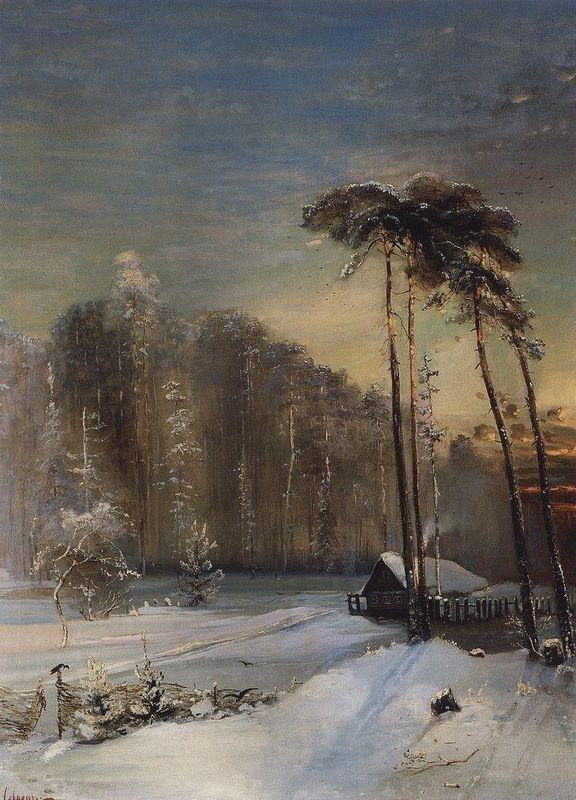 Forest in the frost - Aleksey Savrasov