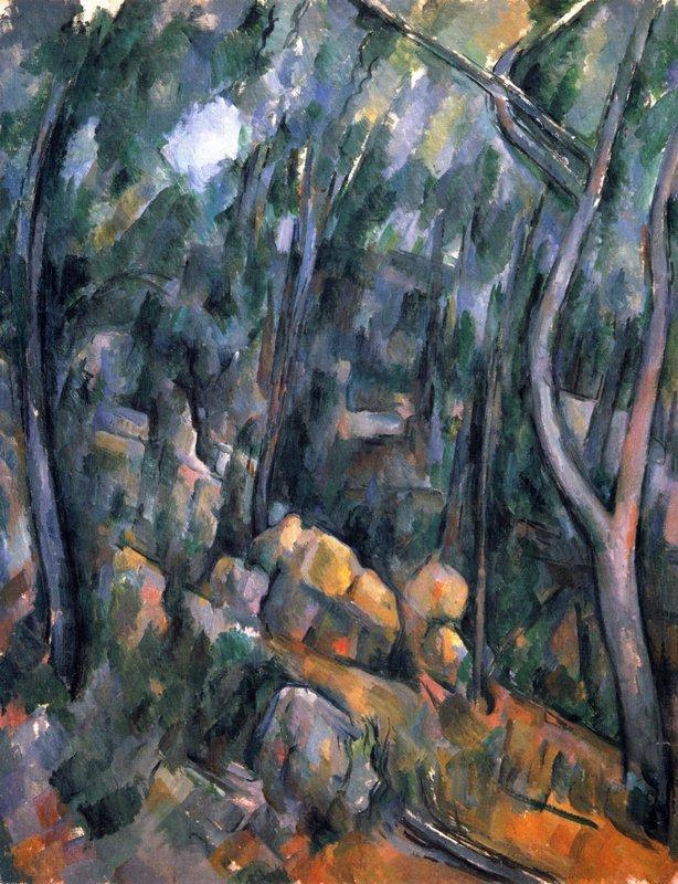 Forest near the rocky caves above the Chateau Noir - Paul Cezanne