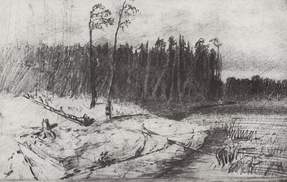 Forest near the water - Arkhip Kuindzhi