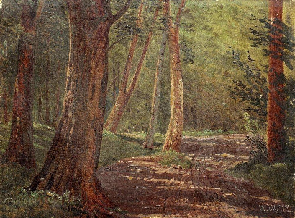 Forest road - Ivan Shishkin