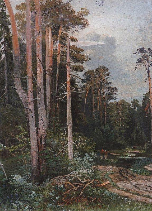 Forest road in Sokolniki - Aleksey Savrasov