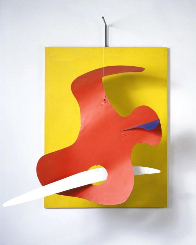 Form against Yellow (Yellow Panel) - Alexander Calder