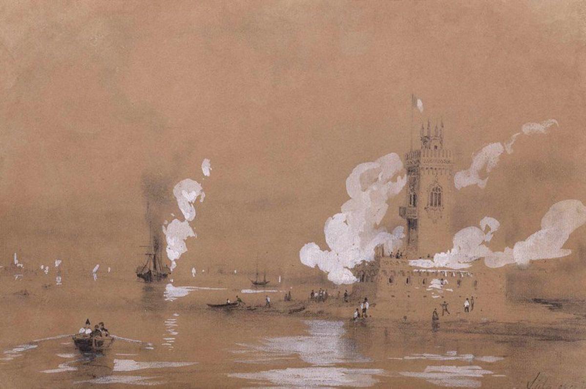 Fortress at the Sea - Ivan Aivazovsky