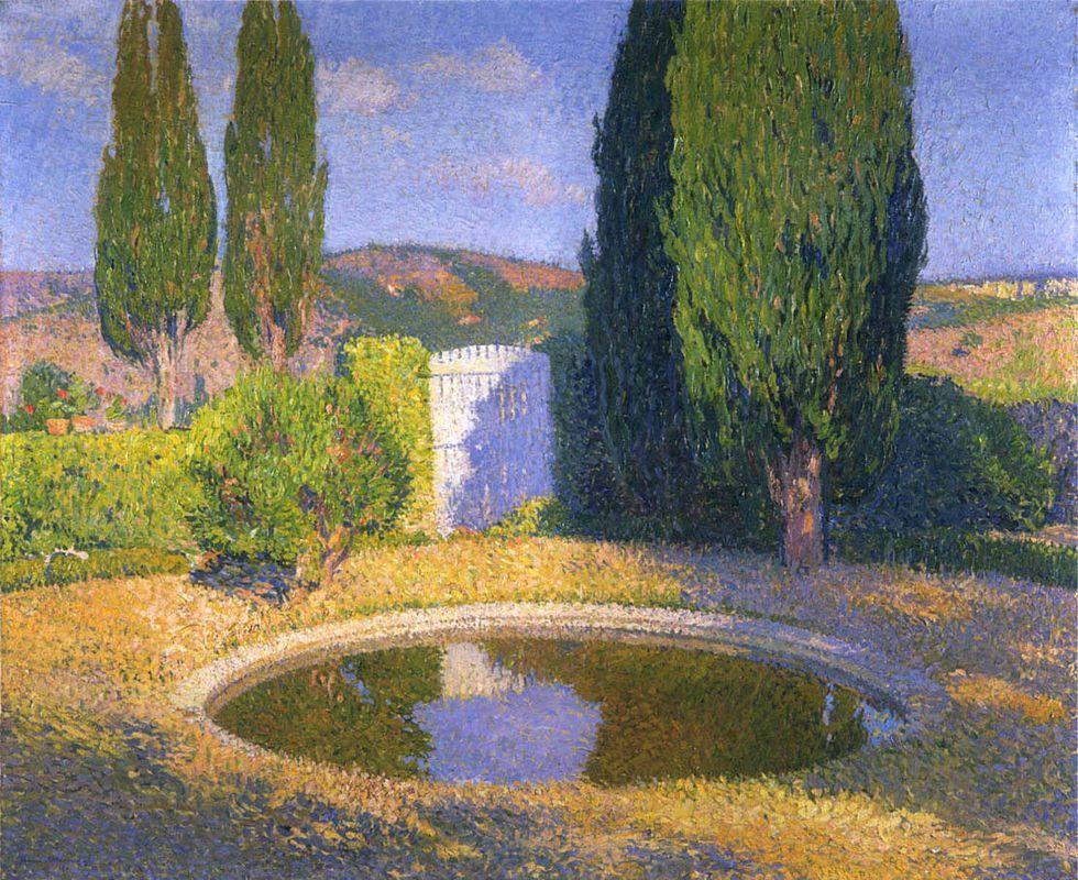 Fountain in Summer - Henri Martin