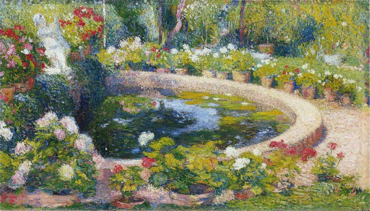 Fountain in the Center of the Park - Henri Martin