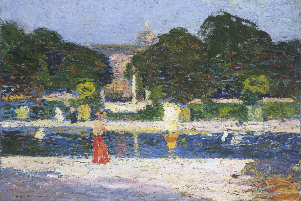 Fountain in the garden at Luxembourg - Henri Martin