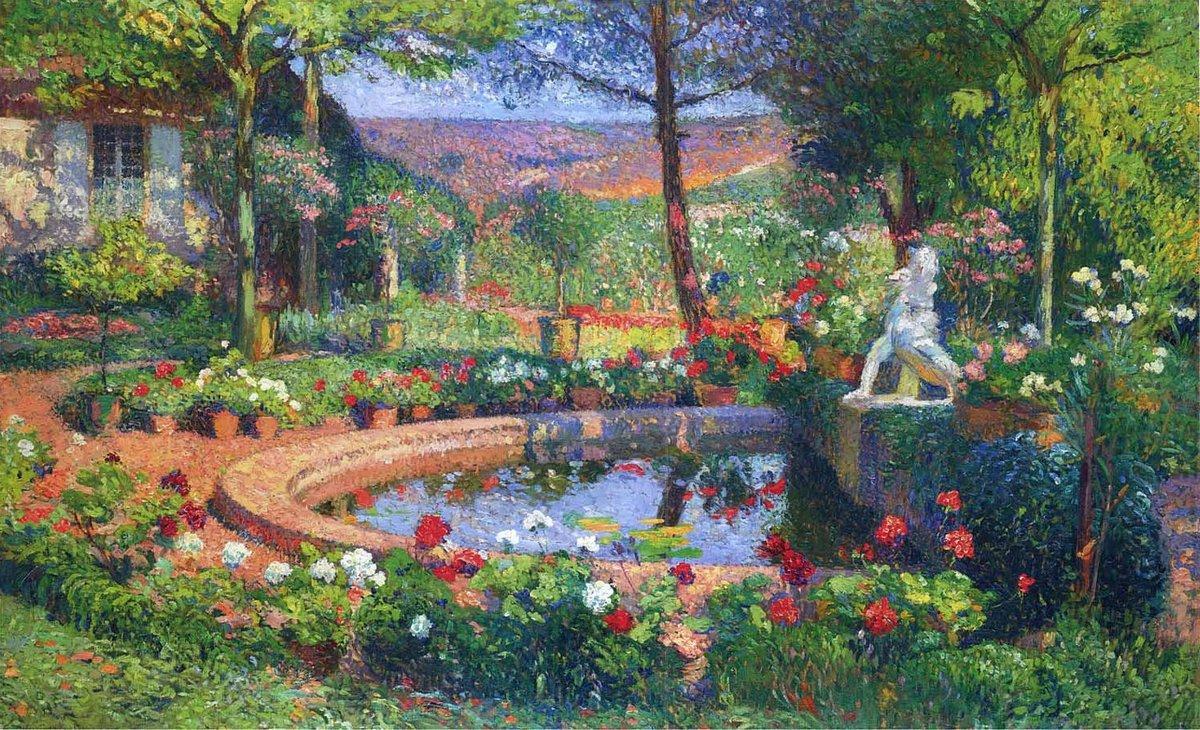 Fountain in the Park Marquayro - Henri Martin