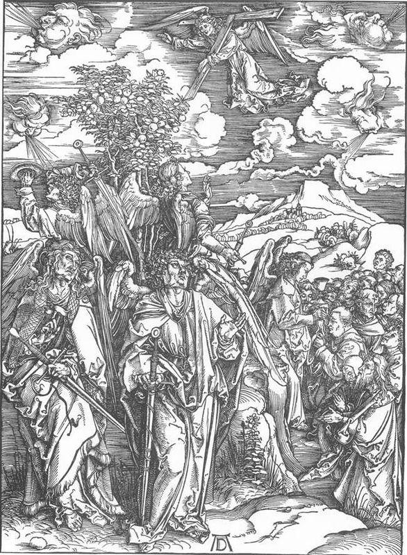 Four Angels Staying the Winds and Signing the Chosen - Albrecht Durer
