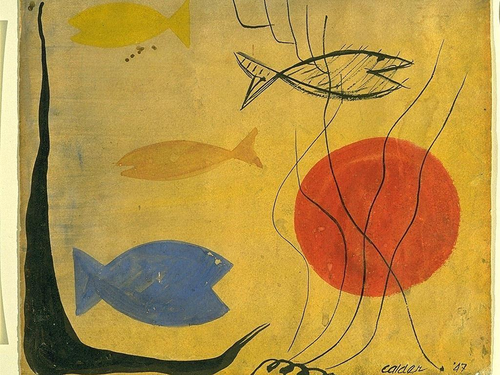 Four Fish in Water - Alexander Calder