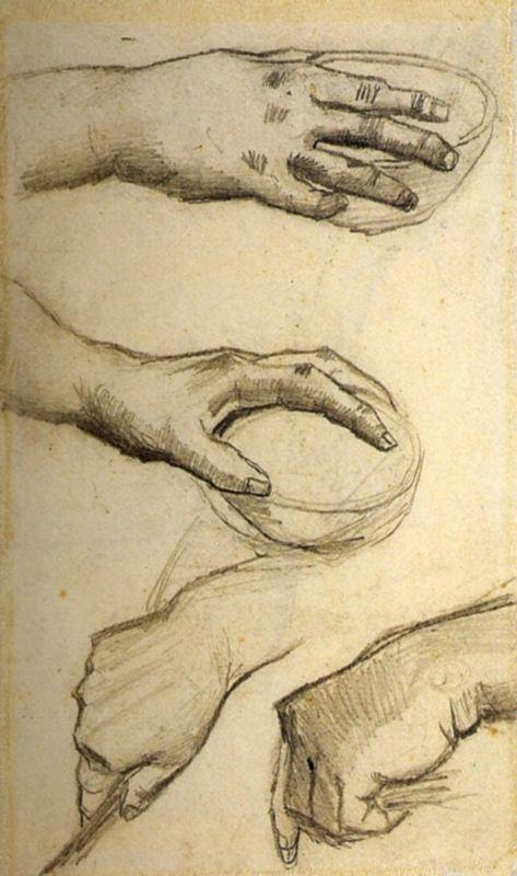 Four Hands, Two Holding Bowls - Vincent van Gogh