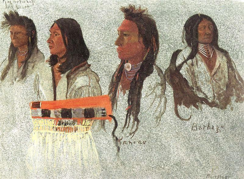 Four Indians   - Albert Bierstadt