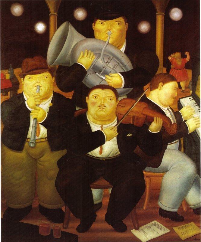 Four Musicians - Fernando Botero