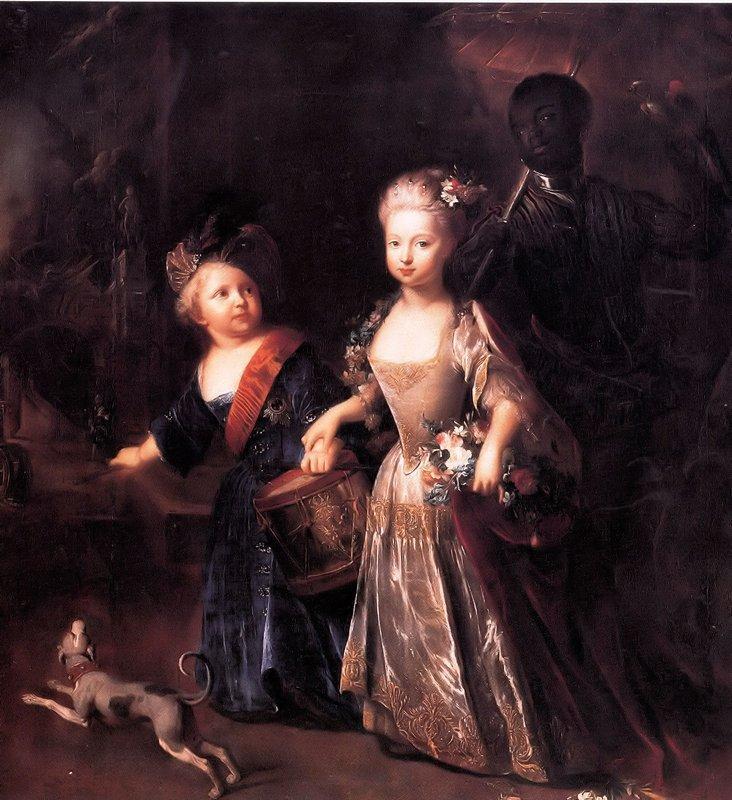 Frederick and his sister Wilhelmina - Antoine Pesne