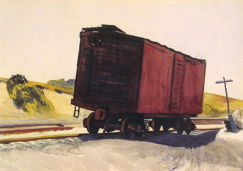 Freight Car at Truro - Edward Hopper