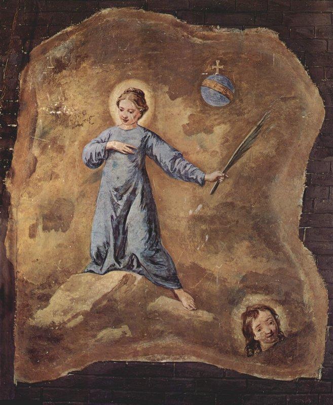 Fresco in San Pantalon in Venice, Scene: Holy Martyr, fragment - Pietro Longhi
