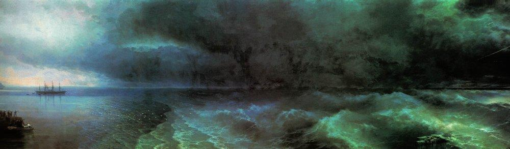 From the calm to hurricane - Ivan Aivazovsky