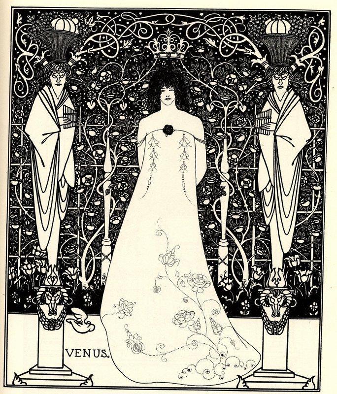 Frontispiece for 'Venus and Tannhauser' - Aubrey Beardsley