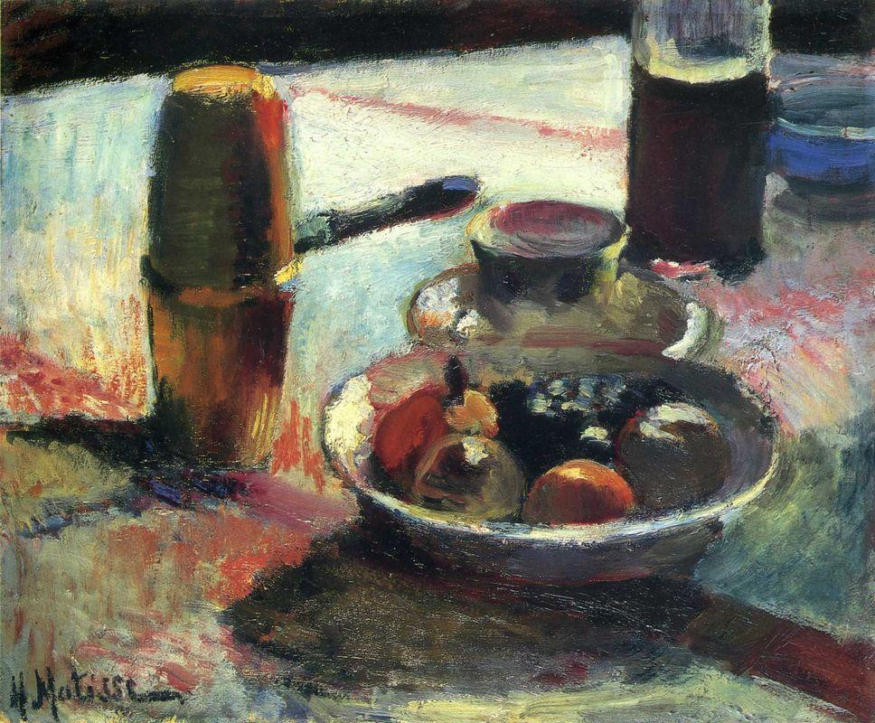 Fruit and Coffee-Pot - Henri Matisse