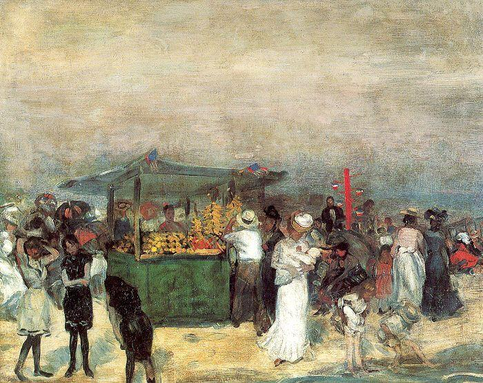 Fruit Stand, Coney Island - William James Glackens