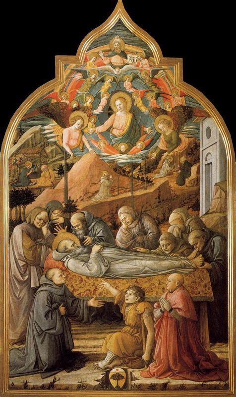 Funeral of St. Jerome - Filippo Lippi