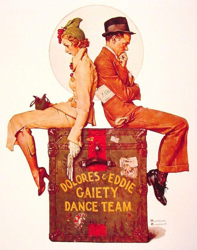 Gaiety Dance Team - Norman Rockwell