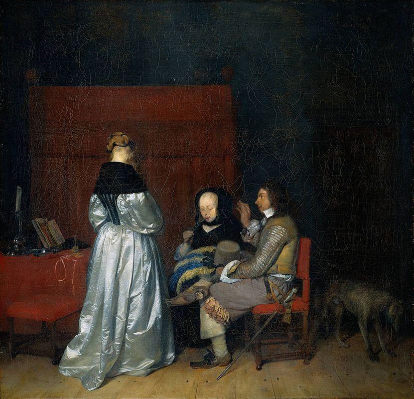 Gallant Conversation (The Paternal Admonition) - Gerard Terborch