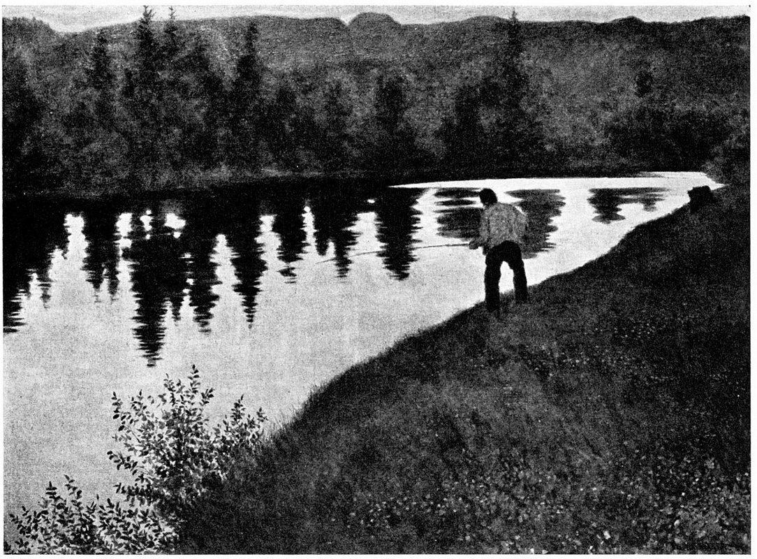 Gamle Fingar Fisker I Eggedoela - Theodor Severin Kittelsen