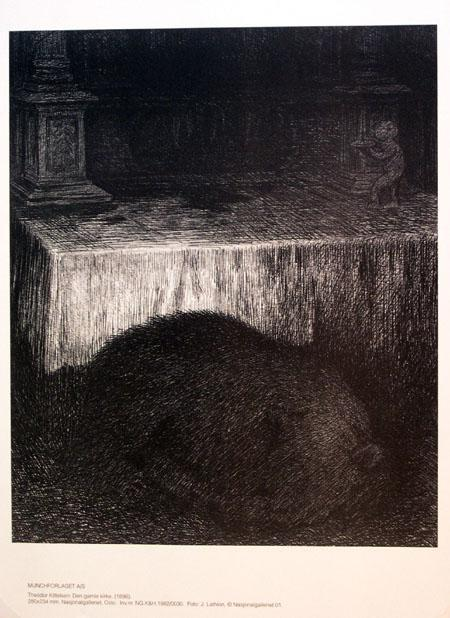 The old Church  - Theodor Severin Kittelsen