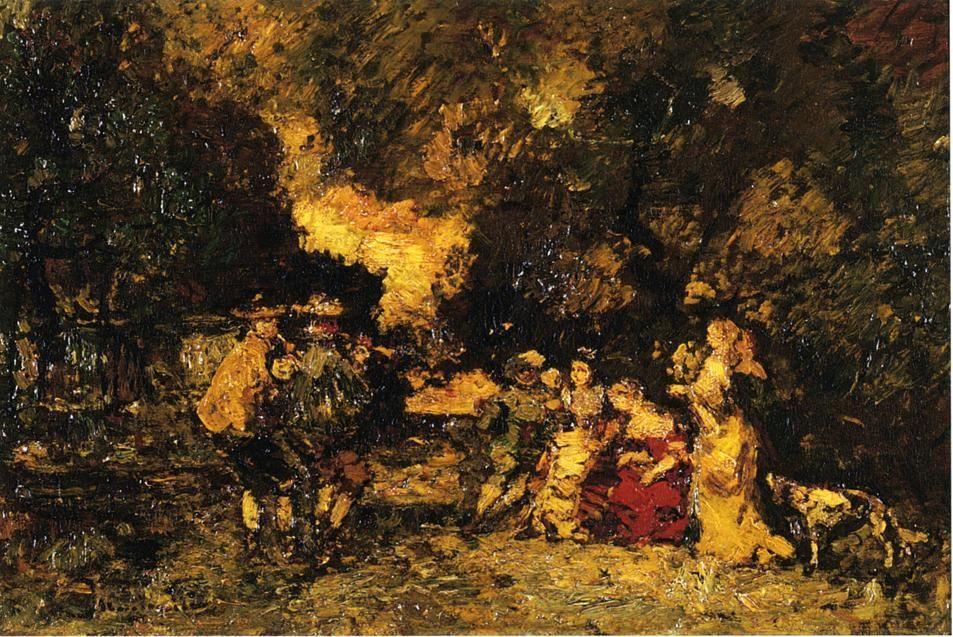Garden Party - Adolphe Joseph Thomas Monticelli