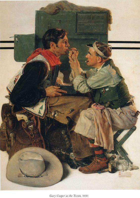 Gary Cooper as the Texan - Norman Rockwell