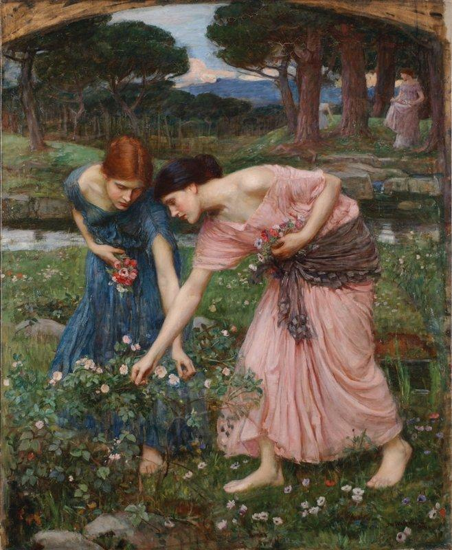 Gather Ye Rosebuds While Ye May - John William Waterhouse