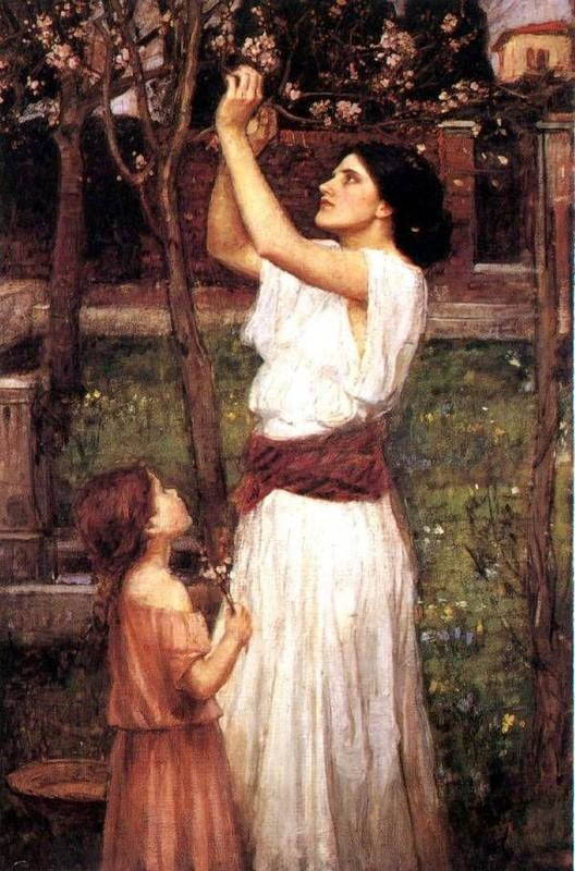 Gathering Almond Blossoms - John William Waterhouse