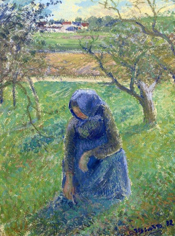 Gathering Herbs - Camille Pissarro