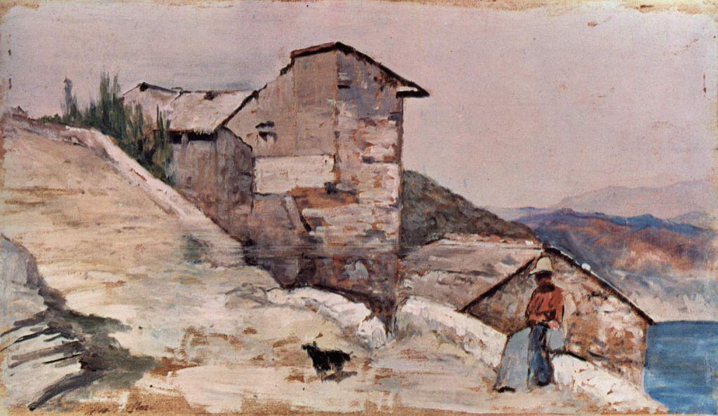 Gehoft in den Hugeln - Giovanni Fattori